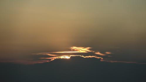 nature, sky, clouds, night, dusk, dawn, sunrise, sunset, light, shadow, silhouette, gradient, gray, brown, yellow