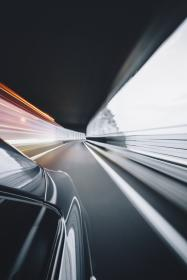 car, vehicle, transportation, road, tunnel, fast, speed, blur