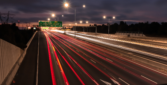 road, cars, long exposure, highway, transport, travel, driving, night, lights, street