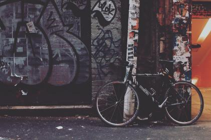 bike, bicycle, graffiti, public, wall, art, mural, painting, outdoor
