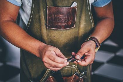 people, man, apron, plies, hands, watch, accessories, time