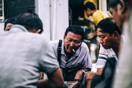 men, people, eyeglasses, cigarette, planning, talking, watch, bokeh, blur, bag, playing, back