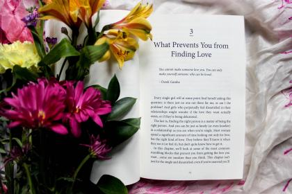 free photo of flowers  book