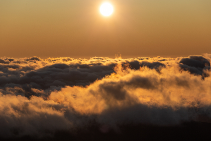 Photo of sun over clouds