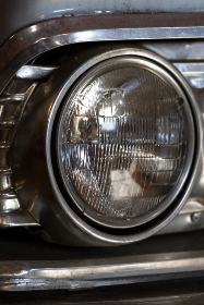 vintage,  car,  headlight,  close up,  automotive,  automobile,  vehicle,  transport,  mechanic,  mechanical,  garage,  antique,  chrome,  metal,  steel