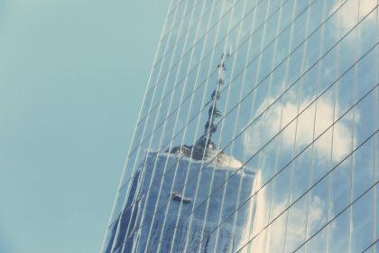 building, windows, reflection, tower, high rise, architecture