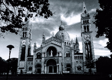 church,  cathedral,  nature, architecture, grand, black & white, black, white, clouds, dramatic