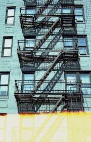 old,  building,  facades,  fire,  escape,  apartment,  nyc,  windows,  exterior,  lofts,  architecture,  stairs,  film,  light, new york