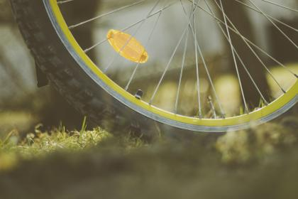 wheel, bike, bicycle, outdoor, travel, grass, blur