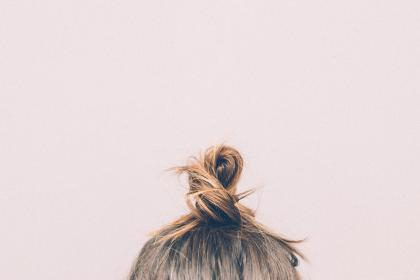 bun, hair, brunette, girl, woman, people