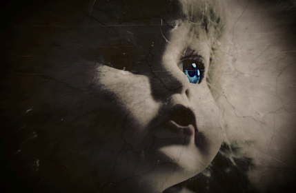 scary,  creepy,  doll,  face,  halloween, horror, doll, blue eyes, toy