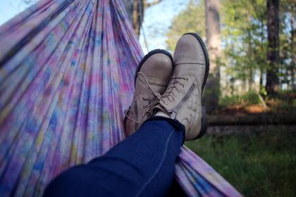 hammock, people, man, shoe, footwear, jeans, outdoor, relax