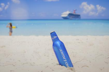 beach, sand, beer, alcohol, bud light, drinks, ocean, sea, tropical, vacation, trip, travel, cruise, ship, sunshine, summer