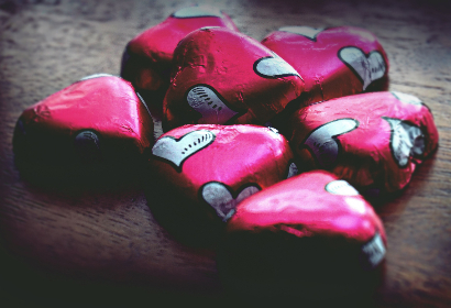 chocolate,  candy,  hearts,  heart,  sweets, romantic, pink,  table,  wrapper