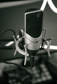 black and white, microphone, filter, music, studio, record