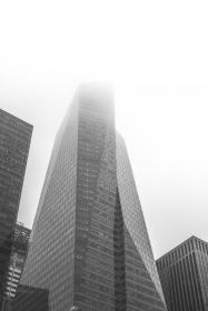 NYC, New York city, buildings, towers, high rises, architecture, black and white
