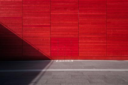 red, wall, concrete, city, urban