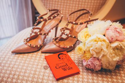 high heels, fashion, flowers, bouquet, wife, wedding, marriage, book