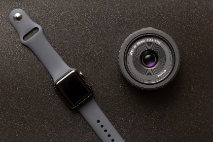 apple,  watch,  technology,  wearable,  camera,  lens,  gear,  smartwatch,  dark,  space gray,  texture,  flat lay,  top,  background,  focus,  macro,  close up,  equipment,  accessories,  device,  digital,  gadget,  wireless