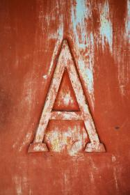 still, items, things, embossed, carved, letter, a, grunge, paint, wood, art, graphic