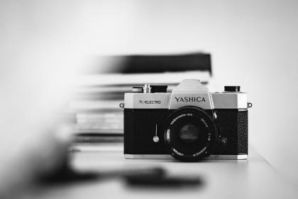 camera, yashica, lens, iso, aperture, shutter, photography, photo, photographer, film, old, vintage, black and white, monochrome, analog