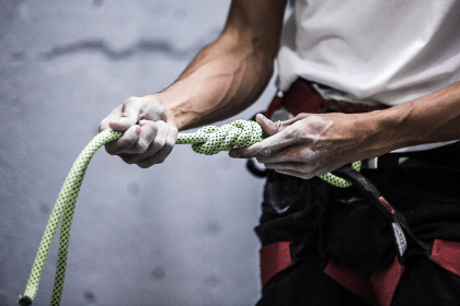climbing,  rope,  hands,  person,  holding,  man,  indoors,  sport,  athlete,  exercise,  fitness,  chalk,  equipment,  gear