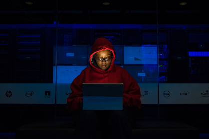 woman,  coding,  dark,  night,  hoodie,  red,  female,  computer,  programmer,  coder,  work,  server,  office