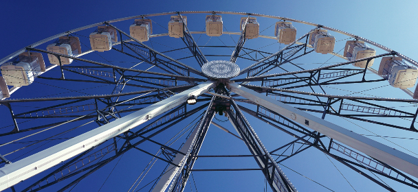 ferris wheel, fair, ride, entertainment, amusement, fun, sky, enjoyment