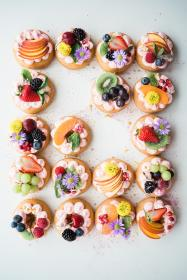 cupcake, desserts, sweets, food, fruits, flower, toppings