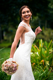 bride,  bridal,  wedding,  beauty,  bouquet, dress, person, woman, flowers, happy, smile, outdoors, love