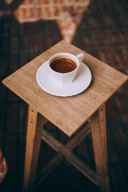 coffee,  cup,  table,  beverage,   drink,   brew,   caffeine,  mug,  wooden,  stool,  cafe,  hot
