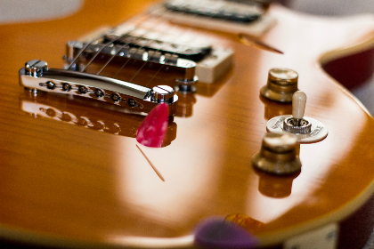 les paul, guitar, music, instrument, string, electric guitar, electric, sound, technology