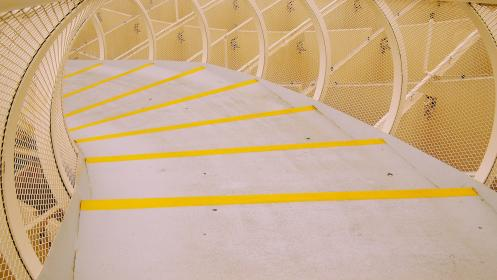 architecture, design, structure, walkway, yellow