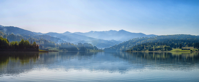 widescreeen,   beautiful,   fog,   forest,   lake,   mountains,   nature,   river,   scenic,   sky,   trees,   water,   hd,   hd wallpaper