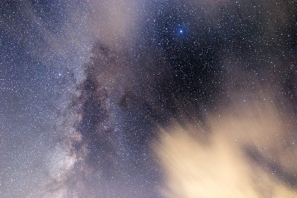 Photo of the milky way and clouds