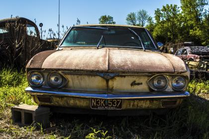 car, vehicle, transportation, travel, adventure, old, vintage, rusty, garage, dumpster