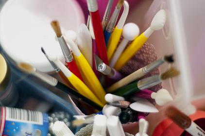 paint, brushes, art, supplies, stationary, creative