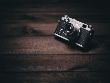 camera, photography, lens, vintage, objects, wood