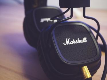 marshall, audio, speaker, equipment, music, headphone, mockup