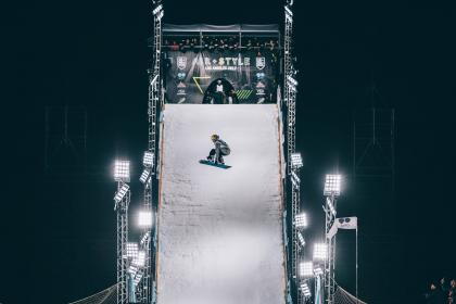 people, man, guy, sports, ice, board, air, style, adventure, game, spotlight, slide, white, dark