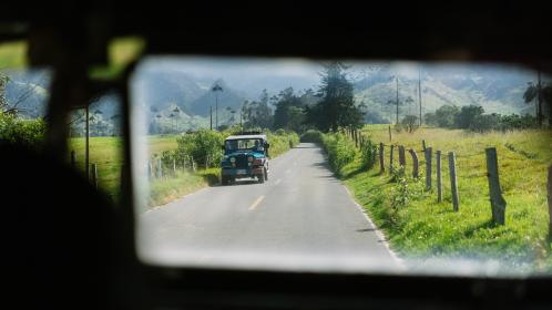 nature, landscape, green, grass, road, travel, adventure, jeep, window, mountain, travel, adventure