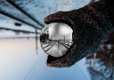 snow, winter, white, cold, weather, ice, people, man, gloves, snow globe, glass, ball, circle, round
