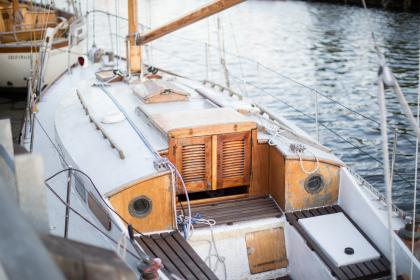boat, ship, yacht, water transportation, water, ocean, sea, wood, speaker, vacation, adventure