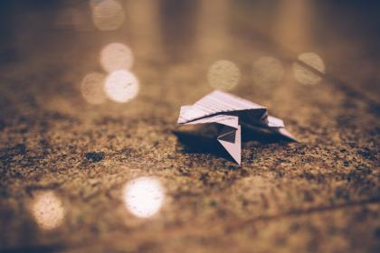 origami, paper, blurry, abstract, ground, objects