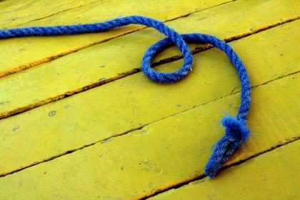 rope, wood, floor, pattern, shapes, block, colors, yellow, blue, still