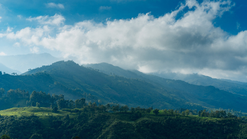 hills,  landscape,  mountains,  clouds,  sky,  nature,  scenic,  countryside,  outdoor,  valley,  trees,  green,  grass,  mountain