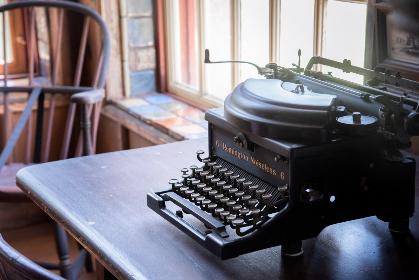 antique,  typewriter,  desk,  office,  business,  writer,  read,  book,  chaor,  window,  old,  rustic,  vintage