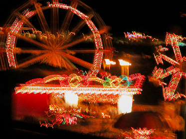 fair,  amusement,  park,  fairground,  night,  carnival,  ride,  blur,  abstract,  fun,  background,  colorful,  lights,  trails