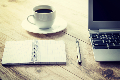 business,  work,  freelance,  coffee,   computer,   cup,   desk,   drink,   laptop,   notebook,   pen,   table