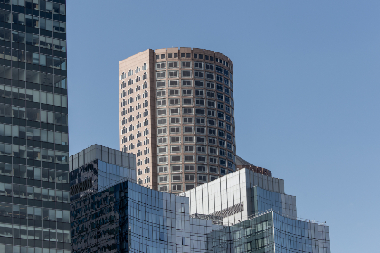 city,  buildings,  day,  skyline,  sky,  tall,  modern,  glass,  windows,  reflection,  business,  office,  architecture,  urban,  metro